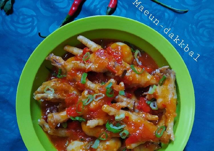 Cara membuat Ceker pedas ala Korea (Maeun-Dakkbal) ala resto
