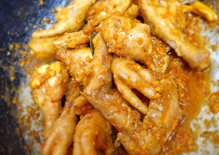 Resep: Ceker Ayam Rica Rica enak