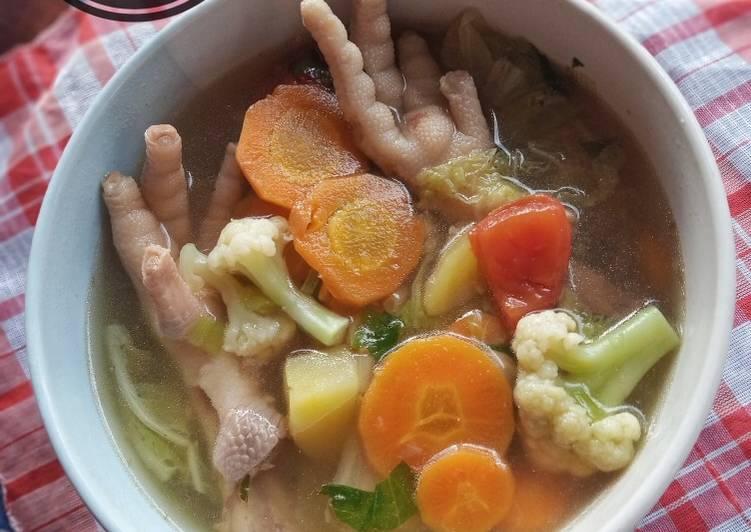 Cara Mudah mengolah Sop Ceker Ayam ala resto