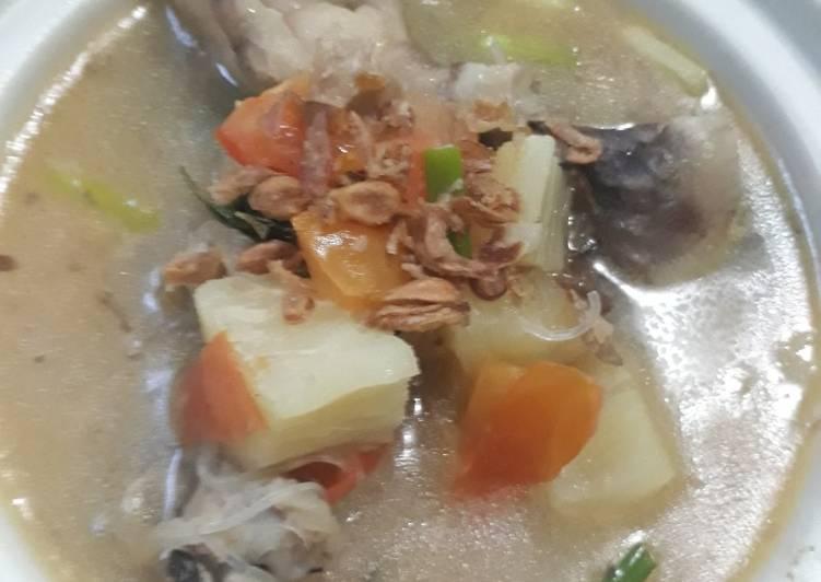 Cara mengolah Sup Singkong Ceker lezat