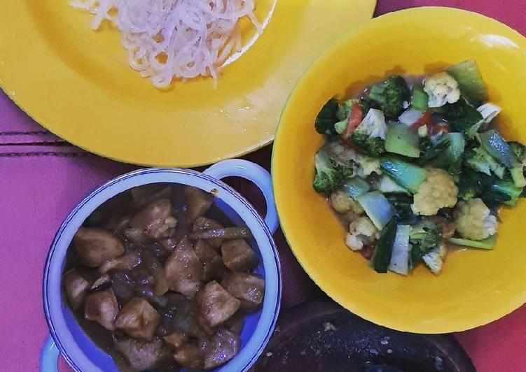 Resep: Mie shirataki kuah ayam kecap dan sambel cibiuk yang menggugah selera