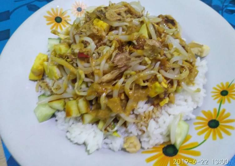 Cara memasak Nasi Lengko yang menggugah selera