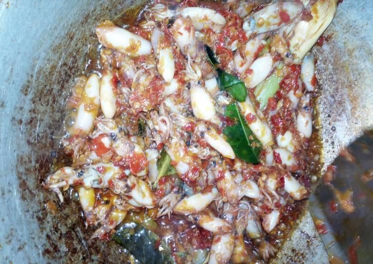 Sambal Baby Cumi Hot Pedas (bisa tuk pelengkap nasi bakar)