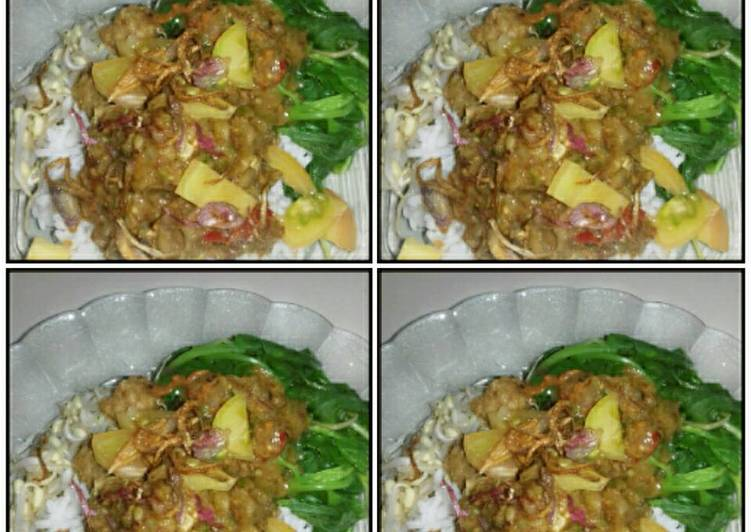 Resep: Nasi lengko with spinach ala Musze lezat