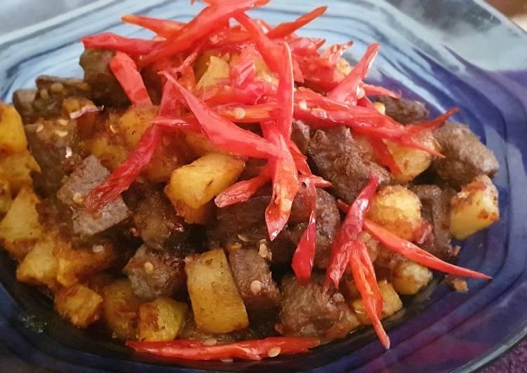 Resep: Sambel hati goreng khas Cirebon (sambel Jamblang) istimewa