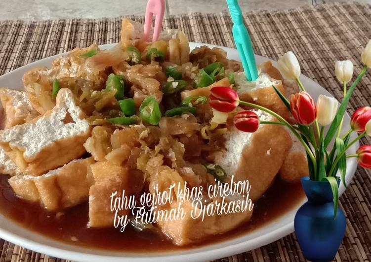 Tahu Gejrot Khas Cirebon