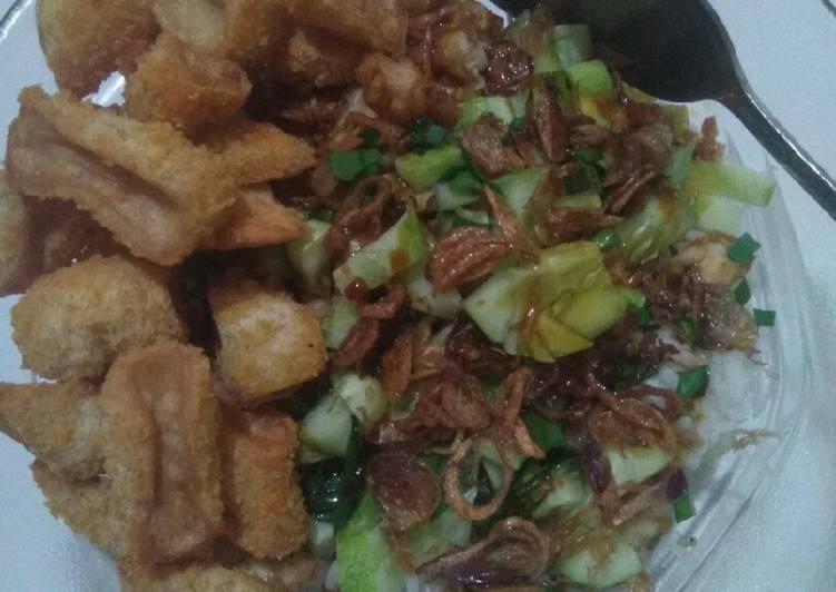 Resep memasak Nasi lengko khas cirebon +nugget enak