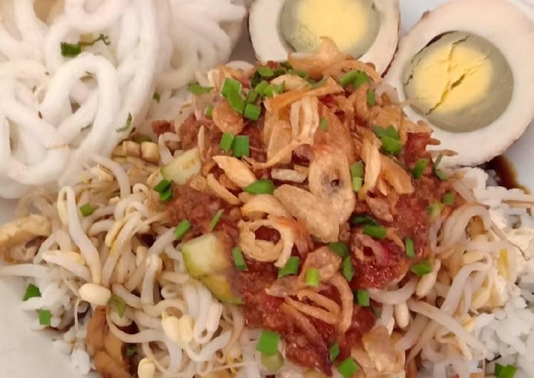 Resep mengolah Nasi lengko Pagongan khas Cirebon yang bikin ketagihan
