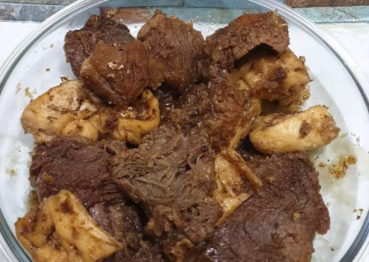 """Resep: Empal manis daging kerbau """"dendeng"""" khas kudus temen soto kudus enak"""