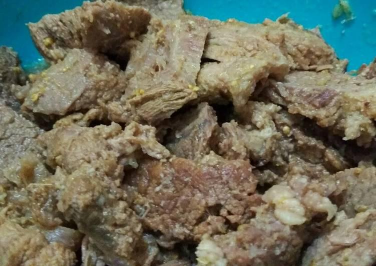 Cara Mudah membuat Empal daging kering lezat