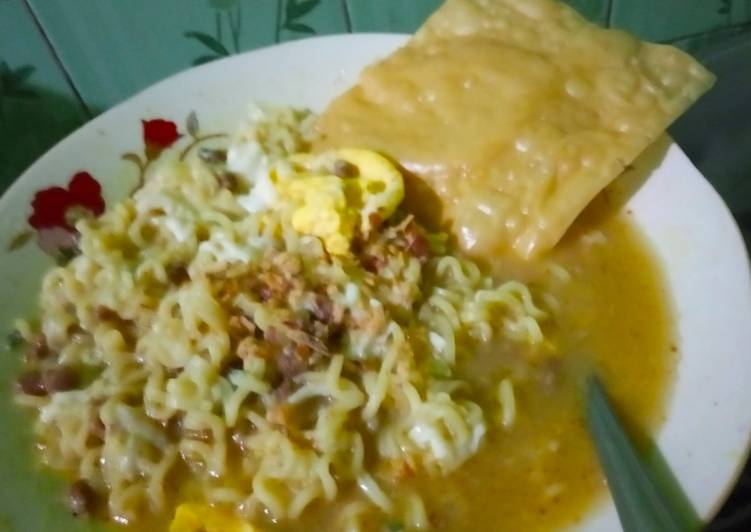 Resep: Mie Rebus Empal Gentong dan Telur ala resto