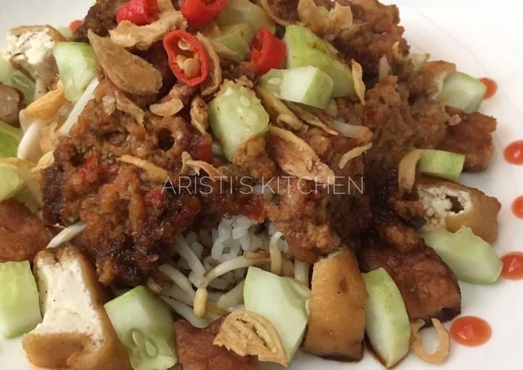 Cara memasak Nasi Lengko Cirebon yang bikin ketagihan