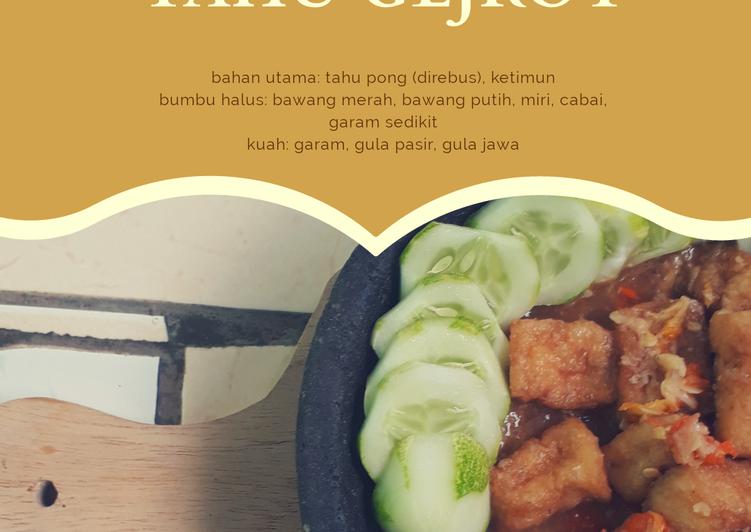 Resep: Tahu gejrot (tanpa menggoreng) lezat