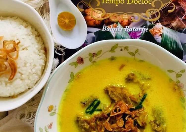 Cara memasak Soto Kuning Bogor enak