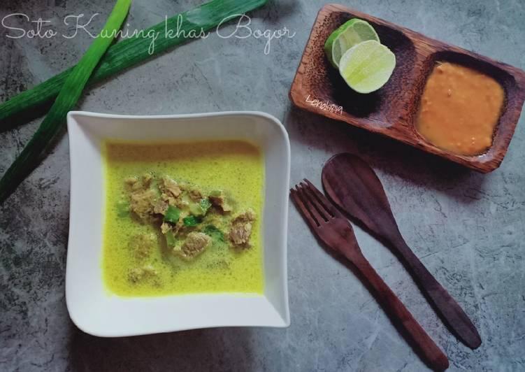 Resep: (33.8) Soto Kuning khas Bogor istimewa