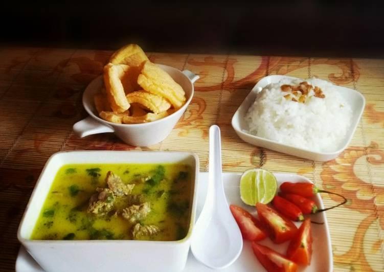 Cara memasak Soto Kuning Khas Bogor yang menggugah selera