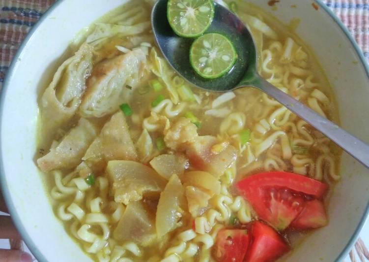 Cara Mudah memasak Soto mie Bogor (kuah kuning) istimewa