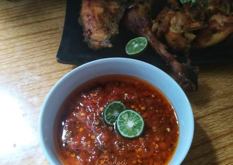 Resep: Sambal Ayam Bakar sukabumi lezat