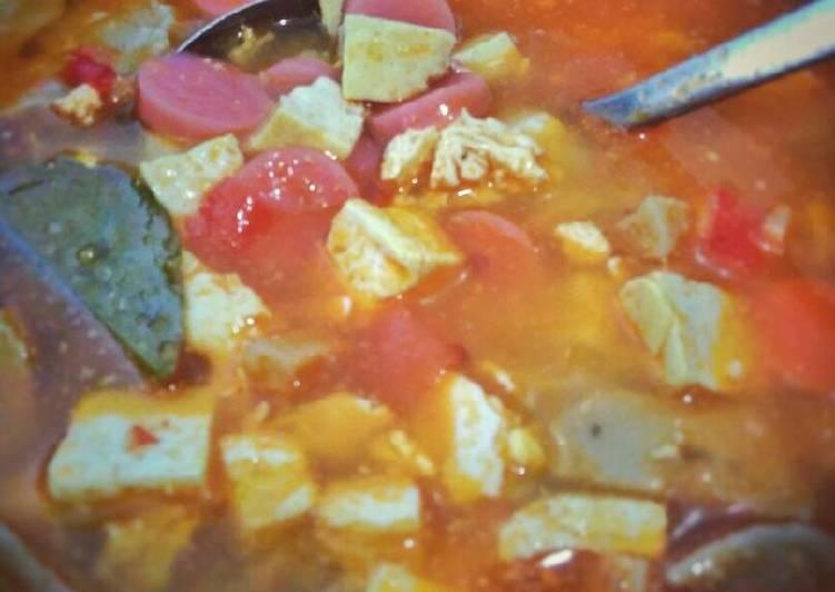 Resep: Sup tahu pedas ala sukabumi (순두부 찌개) lezat