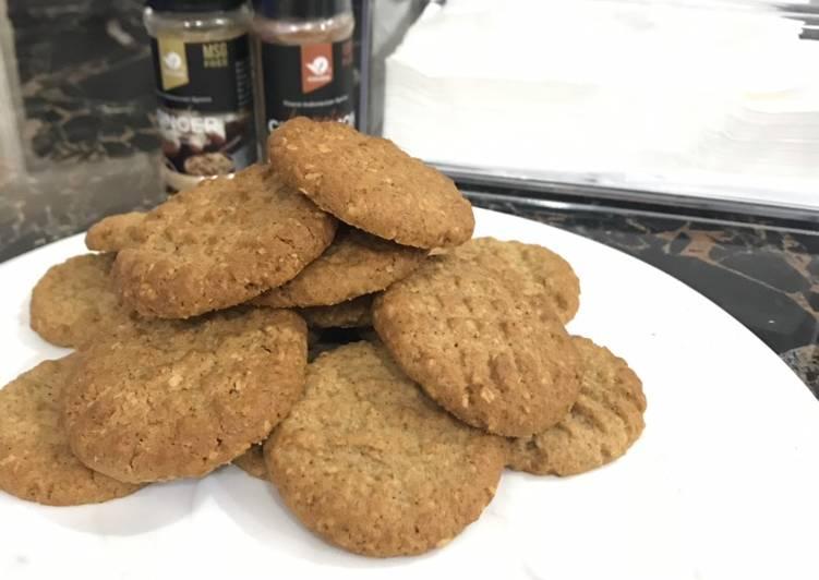 Resep membuat Ginger Oat Cookies yang bikin ketagihan