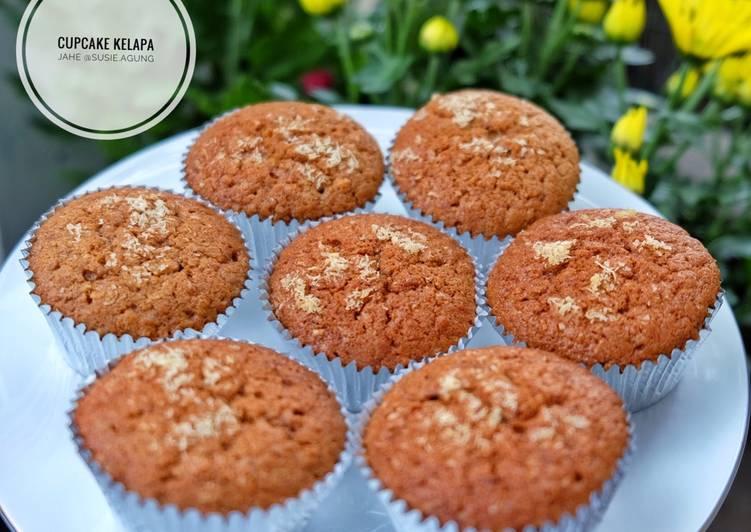 Cara memasak Cup cake kelapa jahe yang menggugah selera