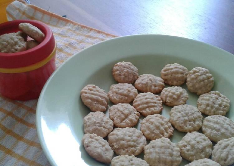 Resep: Cookies jahe oatmeal (teflon) lezat