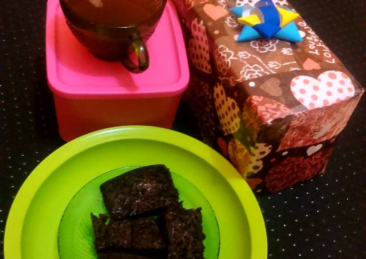 Oreo Brownies Cake & hot ginger palm sugar