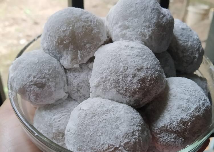 Cara Mudah memasak Mochi isi Kacang Coklat