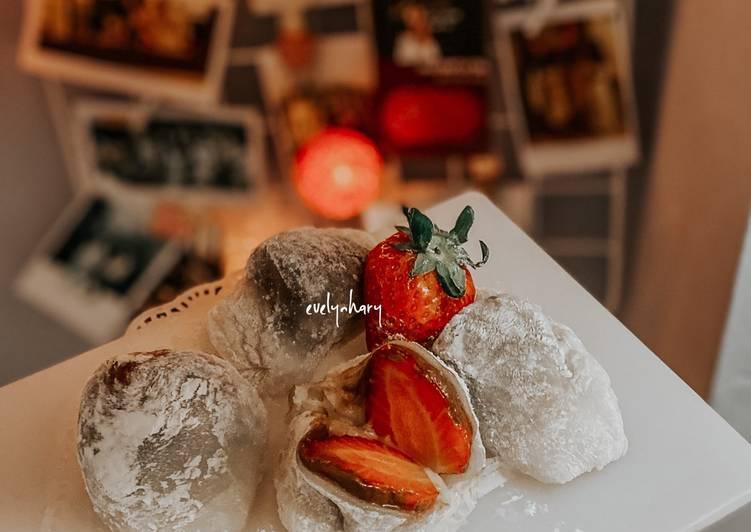 Resep memasak Mochi strawberry (ichigo daifuki) mochi jepang ✨ yang bikin ketagihan