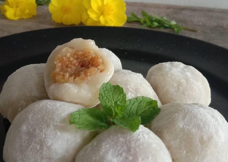 Resep: Mochi isi kacang tanah lezat