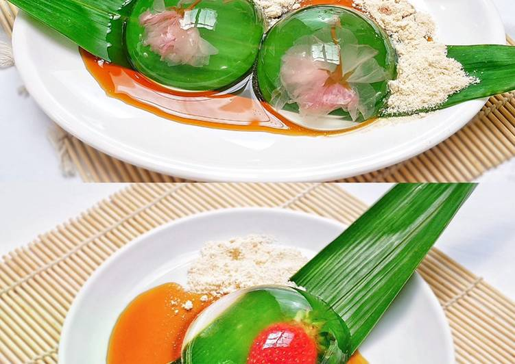 Resep: Sakura Raindrop Cake / Mizu Shingen Mochi yang bikin ketagihan