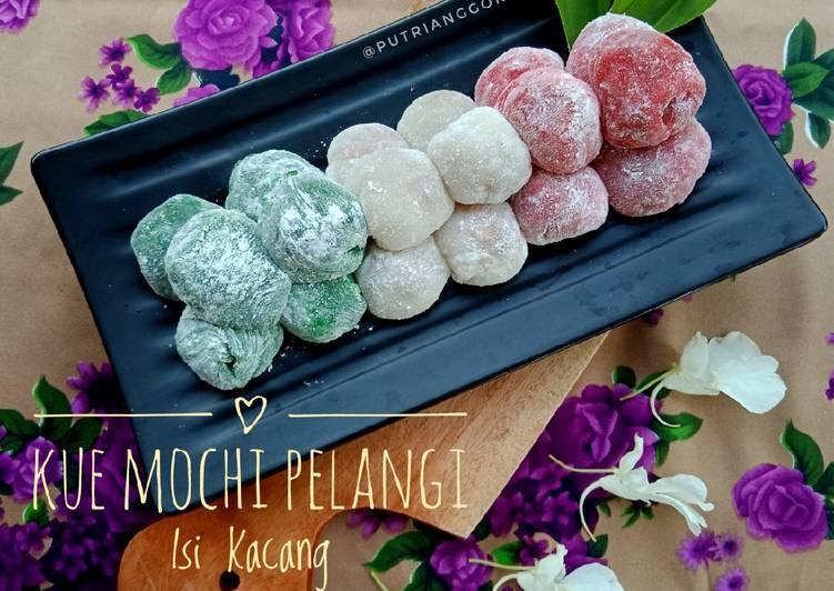 Kue Mochi Pelangi Isi Kacang