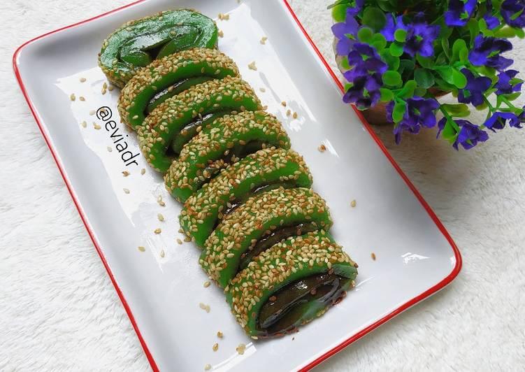Mochi Gulung Cokelat