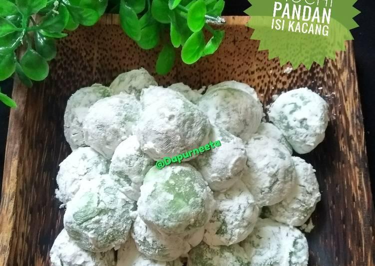 Resep mengolah Mochi Pandan isi kacang istimewa