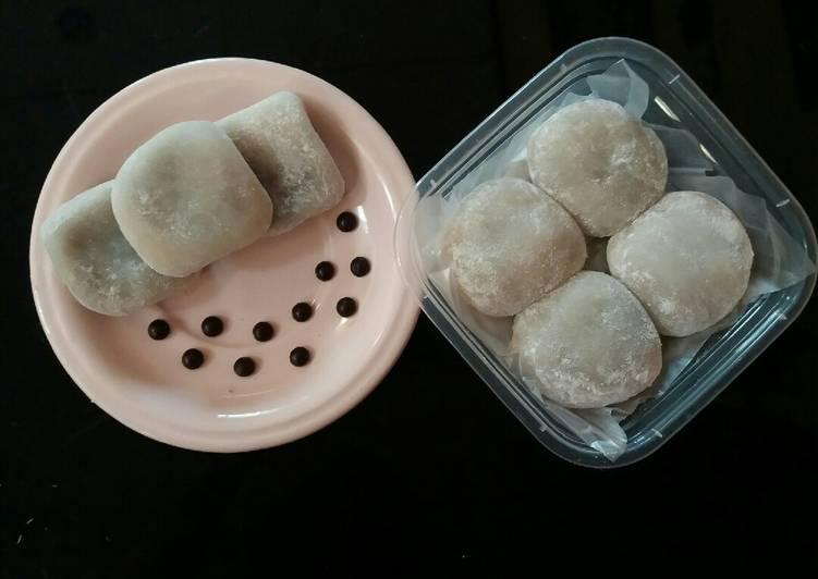 Cara Mudah memasak Mochi coklat kacang lumer enak