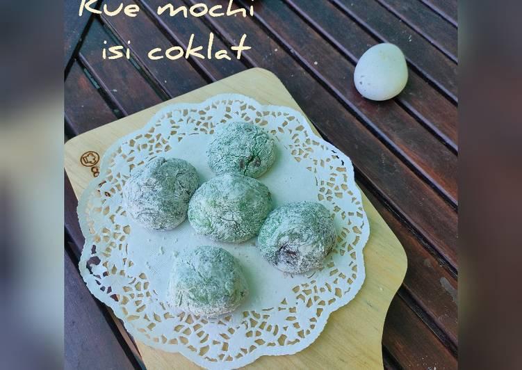 Resep membuat Kue mochi isi coklat enak