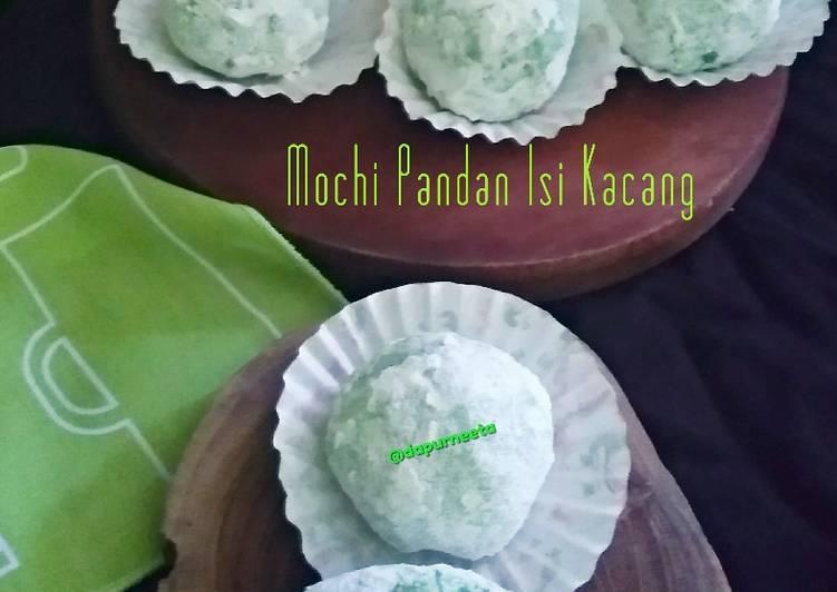 Resep membuat Mochi Pandan isi kacang lezat