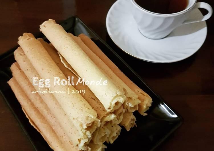 Resep: Egg roll monde aka kue semprong ala resto