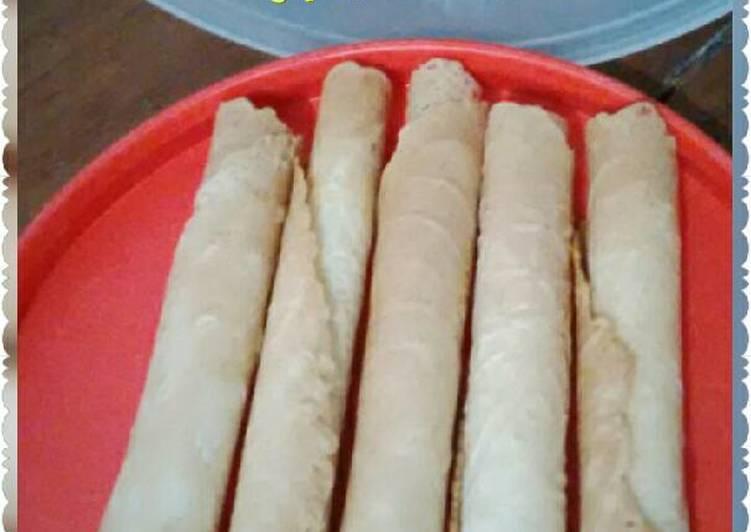 Cara memasak Gapit pisang manis (gapit semprong) enak