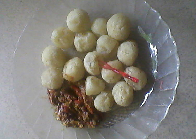 Resep: Cimol sambal kacang purwakarta sedap