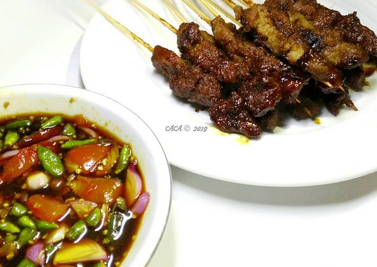 Resep: Sate Maranggi daging sapi ala Azel istimewa