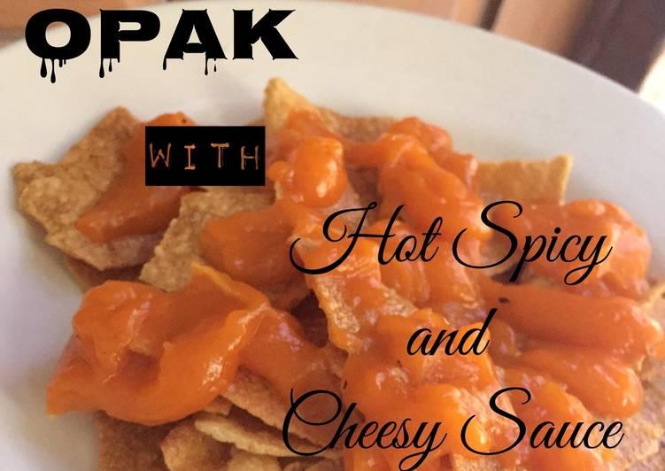 Resep: Nachoz/Opak with spicy cheesy sauce yang menggugah selera