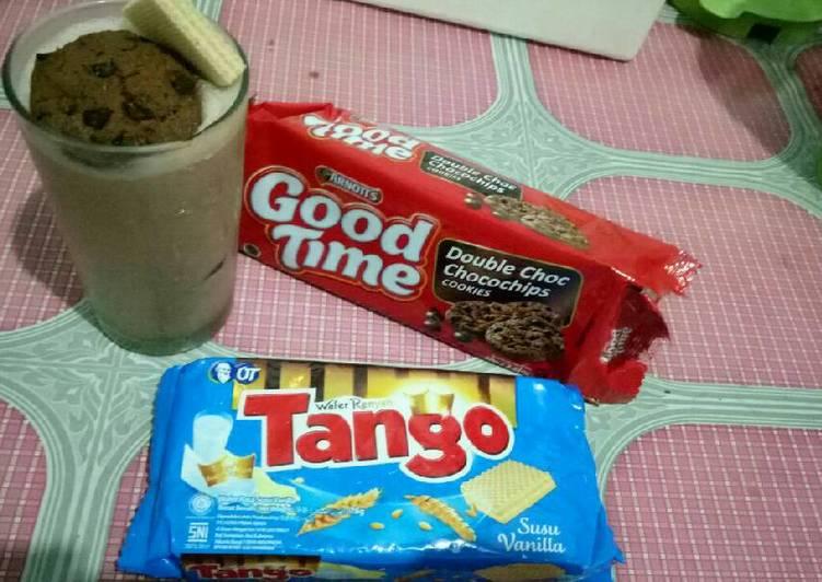Resep: Milkshake coklat es cream 🍨 sedap