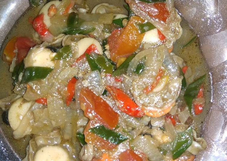 Cara Mudah membuat Kerang simping saus tiram pedas enak