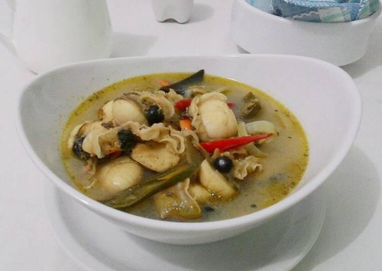 Resep memasak Soup Kerang Simping (Scallop) ala resto