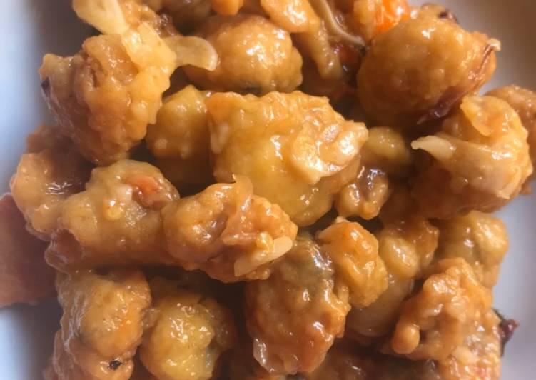 Resep: Simping goreng tepung asam pedas simple (seafood)