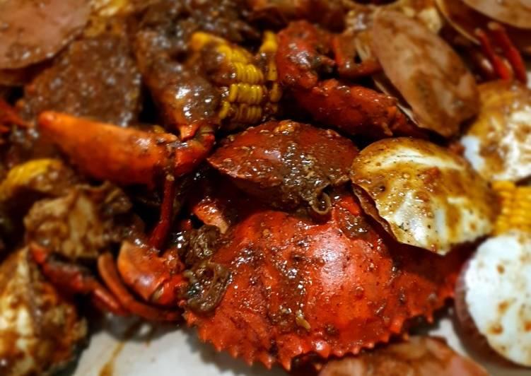 Resep: Seafood lada hitam yang bikin ketagihan