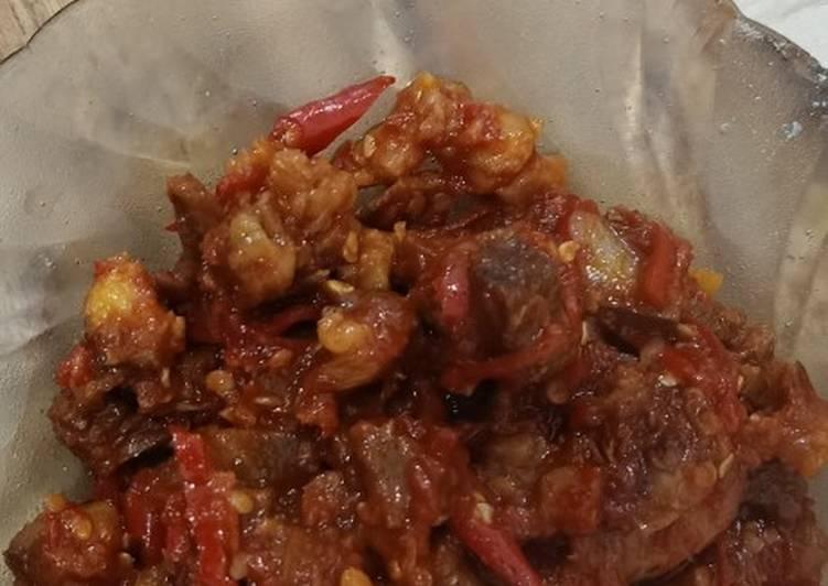 Cara memasak Sambal goreng daging semarang yang menggugah selera
