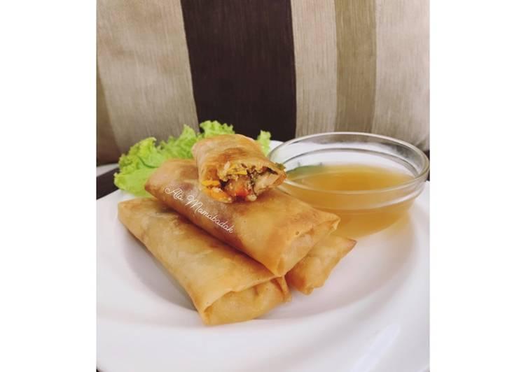 Cara memasak Lumpia Semarang (isi ayam udang) ala resto
