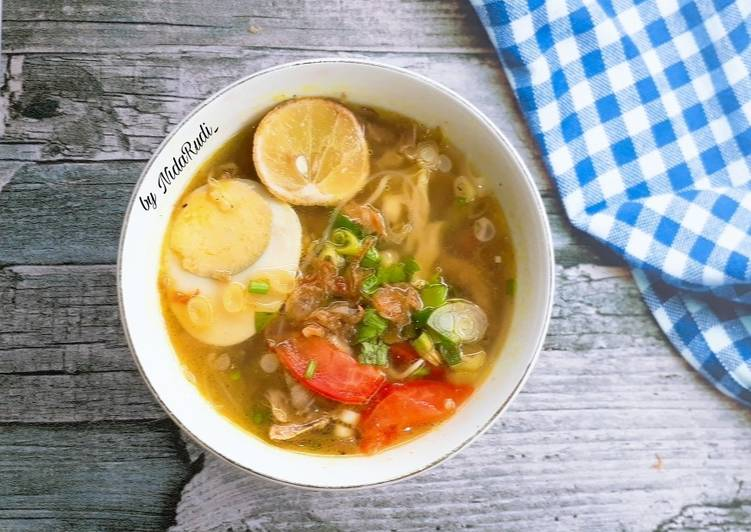 Cara Mudah mengolah Soto Ayam Bangkong khas Semarang istimewa